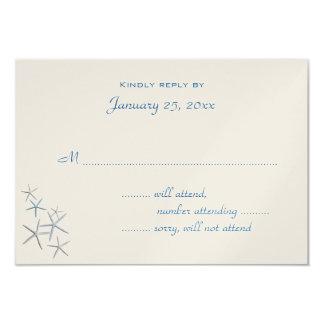 Falling Stars Small Wedding Reply Enclosure 9 Cm X 13 Cm Invitation Card