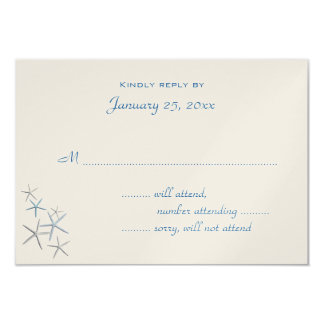 Falling Stars Small Wedding Reply Enclosure Card