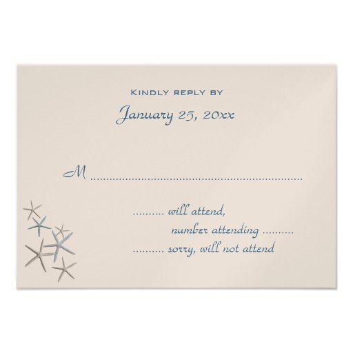 Falling Stars Small Wedding Reply Enclosure Announcement