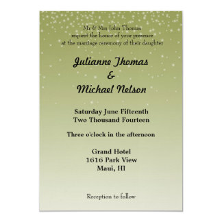 Falling Stars Yellow Personalized Invite