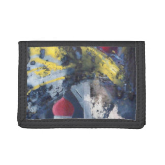 Falling Towers Modern Art Trifold Wallet