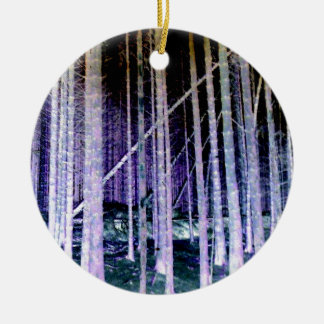 Falling Tree Christmas Ornament