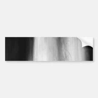 Falling Water Black and White Abstract Bumper Sticker
