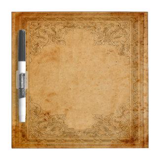 Falln Aged Framed Paper Dry Erase Board