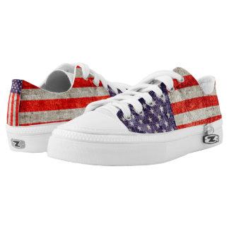 Falln Antique American Flag Low Tops