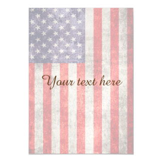 Falln Antique American Flag Magnetic Invitations