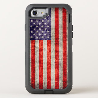 Falln Antique American Flag OtterBox Defender iPhone 7 Case