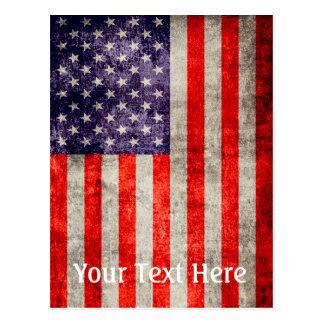 Falln Antique American Flag Postcard