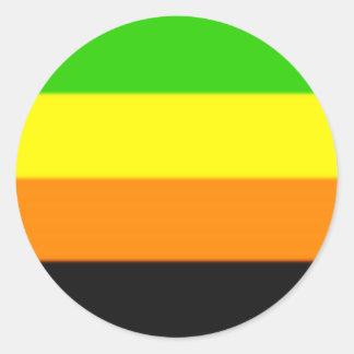 Falln Aromantic Pride Flag Round Sticker