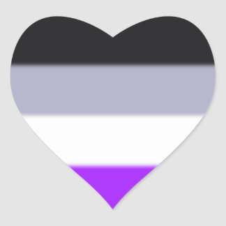 Falln Asexual Pride Flag Heart Sticker