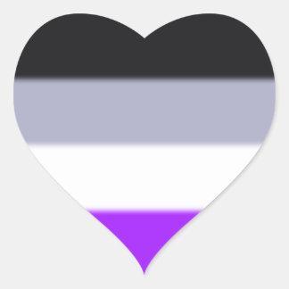 Falln Asexual Pride Flag Heart Sticker