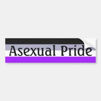 Falln Asexual Pride Flag (Text) Bumper Sticker