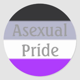 Falln Asexual Pride Flag (Text) Round Sticker