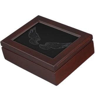 Falln Black Angel Wings Keepsake Box