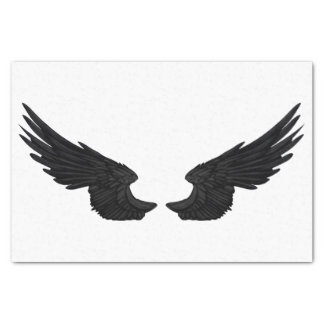Falln Black Angel Wings Tissue Paper
