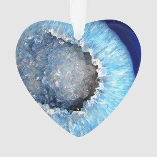 Falln Blue Crystal Geode Ornament