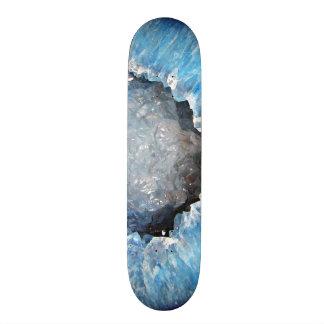 Falln Blue Crystal Geode Skate Deck