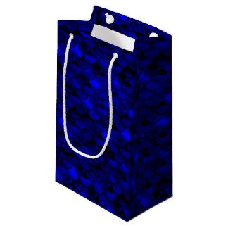 Falln Dark Blue Mermaid Scales Small Gift Bag