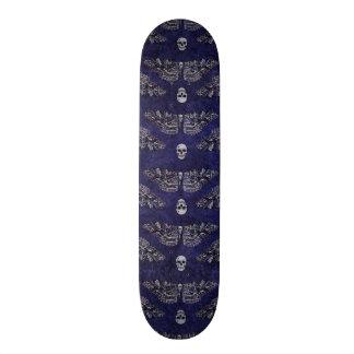 Falln Deathshead Moth and Skulls 21.3 Cm Mini Skateboard Deck