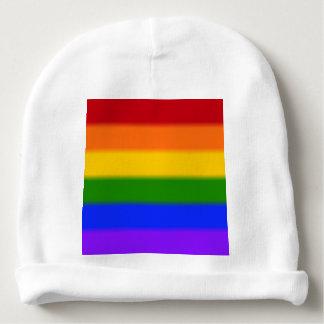 Falln Gay Pride Flag Baby Beanie
