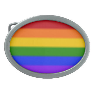 Falln Gay Pride Flag Belt Buckles