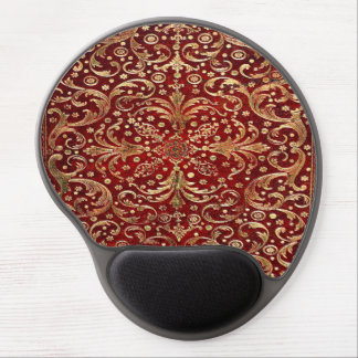 Falln Gold Swirled Red Book Gel Mouse Pad