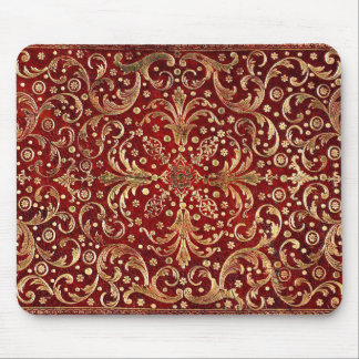 Falln Gold Swirled Red Book Mouse Pad