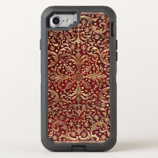 Falln Gold Swirled Red Book OtterBox Defender iPhone 8/7 Case