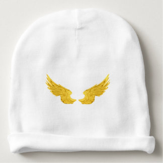 Falln Golden Angel Wings Baby Beanie