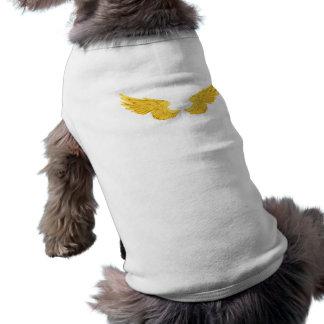 Falln Golden Angel Wings Sleeveless Dog Shirt