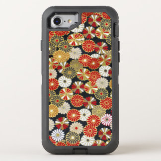 Falln Golden Chrysanthemums OtterBox Defender iPhone 7 Case