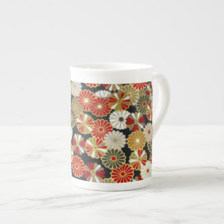 Falln Golden Chrysanthemums Tea Cup