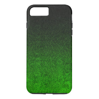 Falln Green & Black Glitter Gradient iPhone 7 Plus Case