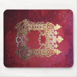 Falln Ink Stained Crimson Book Mouse Pad