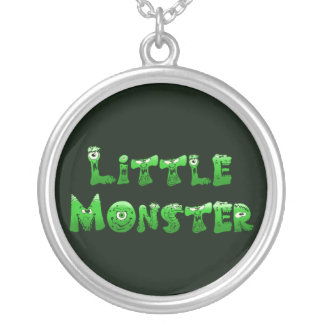 Falln Little Monster Silver Plated Necklace