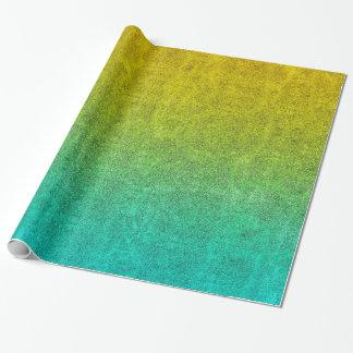 Falln Ocean Sunrise Glitter Gradient Wrapping Paper