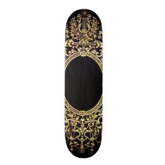 Falln Ornate Gold Frame (Perfect for a Monogram!) 21.6 Cm Old School Skateboard Deck