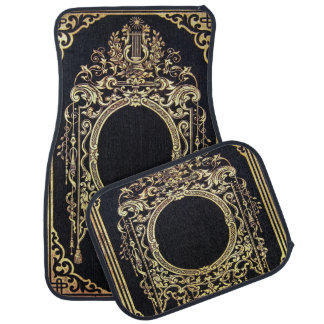 Falln Ornate Gold Frame (Perfect for a Monogram!) Car Mat