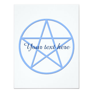 Falln Pagan Pentacle 11 Cm X 14 Cm Invitation Card
