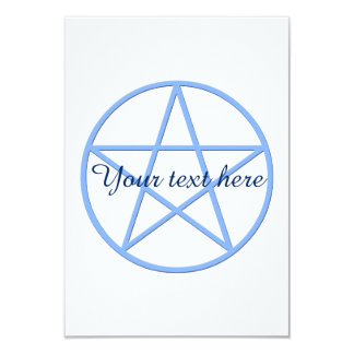 Falln Pagan Pentacle 9 Cm X 13 Cm Invitation Card