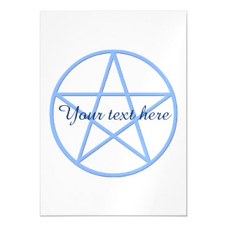 Falln Pagan Pentacle Magnetic Invitations