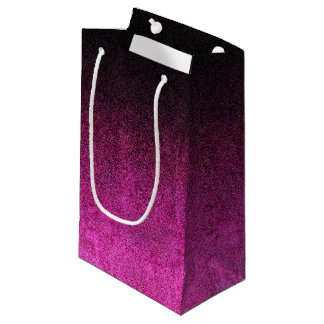 Falln Pink & Black Glitter Gradient Small Gift Bag
