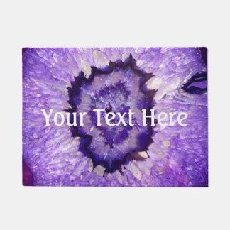 Falln Purple Agate Geode Doormat
