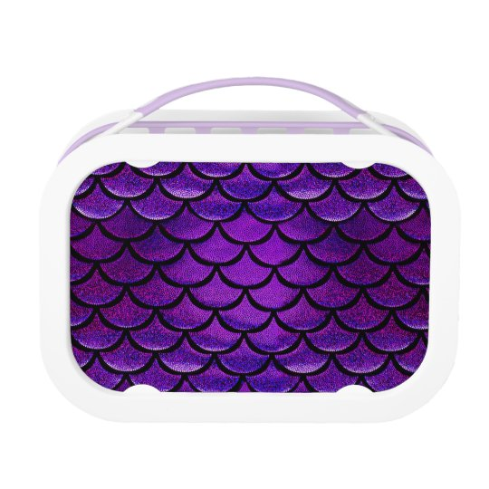 Falln Purple & Blue Mermaid Scales Lunch Box