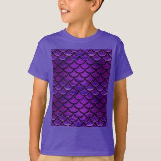 Falln Purple & Blue Mermaid Scales T-Shirt