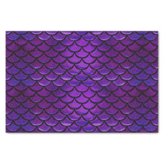 Falln Purple & Blue Mermaid Scales Tissue Paper