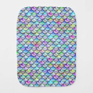 Falln Rainbow Bubble Mermaid Scales Burp Cloth