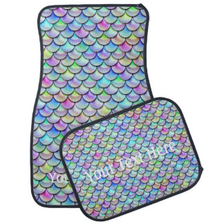 Falln Rainbow Bubble Mermaid Scales Car Mat