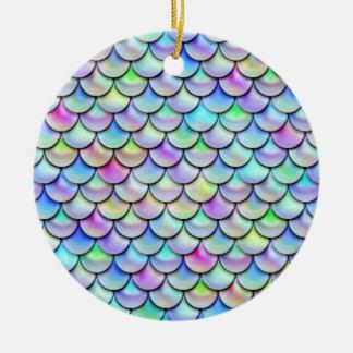 Falln Rainbow Bubble Mermaid Scales Christmas Ornament