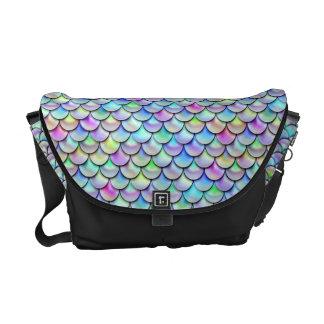 Falln Rainbow Bubble Mermaid Scales Courier Bags